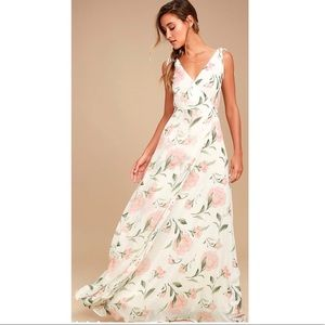 Lulus Romantic Possibilities White Floral Dress